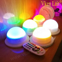 10PCS lot 12cm battery powered rechargeable rgb led lampwick...