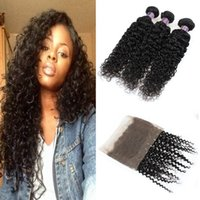 8A Grade Brazilian Virgin Hair Bundles Deep Curly Hair Deep ...