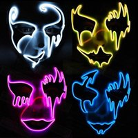Halloween Mask LED Light Up Party Masks Great Funny Masks Fe...