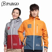 PARGO Waterproof Jacket Man Women Hiking Camping Jacket Coup...