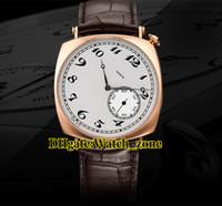 40mm Storici Americano 1921 Automatico 82035 / 000R-9359 orologio da uomo quadrante bianco rosa custodia in pelle cinturino in pelle con cinturino da polso