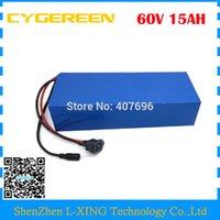 60 V Lithium batterie 60V 15AH 750W vélo électrique batterie 60V 15AH utilisation 3.7V 3000mah 30B cellule 15A BMS Frais de douane gratuits