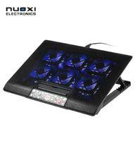 NUOXI 12-17 pouces pad de refroidissement pour ordinateur portable USB Cooler USB ventilateur avec 6 ventilateurs de refroidissement