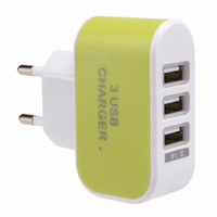 100 PÇS / LOTE Plug UE 3.1A Triplo USB 3 Portas de Parede de Viagem Em Casa Carregador AC Adaptador para carregador de Bateria de telefone Móvel de Alta qualidade Preto
