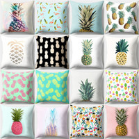 New Fashion Peach Skin Pillow Cover Pineapple Fruit Pattern ...