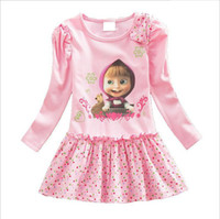 New Baby Girls dress casual style Long- sleeved 3D Printed Pr...