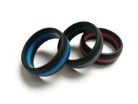 2019 Stripe Ring Vape Banda Anéis De Silicone De Borracha Azul Vermelho Cinza 3 Cores fit Atomizers RDA vape mods cartuchos Tanque e cigarro frete grátis