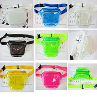 50pcs Women Pvc Jelly Transparent Fanny Packs Summer Beach W...