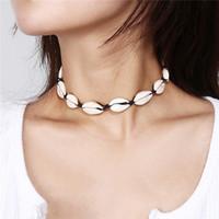 New Férias de verão Jóias Boho Estilo Sea Shell Choker Colares para colar colar de Mulheres Moda Simples Shell 3 cores XR