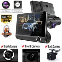 3 عدسة 1080P HD 170 زاوية ثلاثية عدسة سيارة دفر داش كاميرا G- الاستشعار مسجل وكاميرا للرؤية الخلفية كاميرا ثلاثية الاتجاهات كاميرا للرؤية الليلية