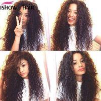 Maylasian brasilianisches indisches unverarbeitetes reines Haar tiefe Welle Haar 4 Bundles Ishow Top 8a Haarwebart 8-28 Zoll heißer Verkauf