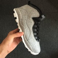 New 10 X white Cement GREY cool low men basketball shoes 10s...