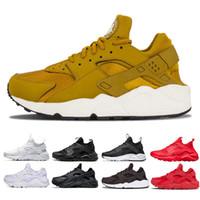 arrives 9977f 6bdaf nike air huarache shoes Huarache Ultra Run 1.0 4.0 Gris Or Triple noir  blanc rouge Rouge