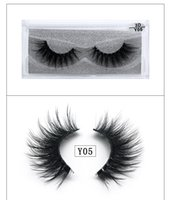Wholesale 3D Mink Eyelashes Multi-layer 3D Mink Extension Eye Lashes Natural Cross False Eyelashes Transparent Stem