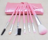 Heißer verkauf 7 stücke Make-Up Pinsel Set Persönliche Erröten Lidschatten Pulver Fpundation Kosmetische Gesichtsbürste Mit 4 farben PU beutel