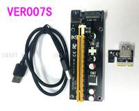 DH029A Para bitcoin miner riser Extensor PCI-E PCI Express Riser Card 1x a 16x USB 3.0 SATA a 15Pin Fuente de alimentación 60cm Últimas 007s ver