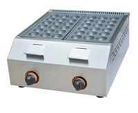 Ücretsiz navlun 45 MM Çap Gaz tipi Balık pelet makinesi Yapışmaz LLFA ile Paslanmaz Çelik Takoyaki Makinesi