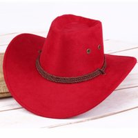 Cowboy hats along the west side riding hats camping outdoor imitation leather men's hats fashion highlights the temperament