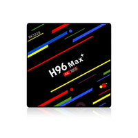 20 pcs original h96 max plus 4 gb 32 gb rk3328 android 9.0 caixa de tv 4k 2.4g wifi media player