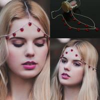 2020 Cheap Disponibile fascia Headwear accessori per capelli catena brillante gioielli di cristallo nero rosso da sposa elegante parrucchino accessori