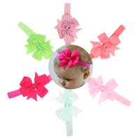 6PCS فتاة الأطفال العصابة هدية عيد ميلاد ذيل السمكة القوس الشريط اطفال اطفال الشعر Hairband أغطية الرأس عالي الجودة اكسسوارات (6 ألوان)