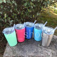 neue 12oz Kleinkind Tasse mit Deckel und Stroh Edelstahl Vakuumisolierte Kid Mug Mini Weingläser