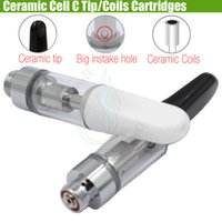 New C Cell M6T 510 Ceramic Rod Coils & Drip tip Pyrex Glass ...