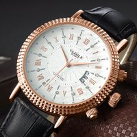 YAZOLE Rose Gold Watch Men Top Brand Luxury Business Goldren...