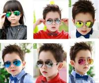 2018 venta caliente niños chicos, chicas, niños gafas de sol de la playa suministra el envío UV Gafas protectoras manera del bebé Las sombrillas de los vidrios gratuito