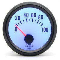 2 인치 52mm 드래곤 게이지 자동차 미터 오일 압력 게이지 0-100 psi 파란색 LED가있는 아날로그 블랙 케이스