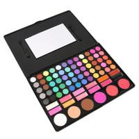 Palette de maquillage pour les yeux couleur mat poudre de paillettes de fard à paupières Ombre à paupières ombres de terre pinceau set pigment