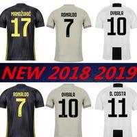 RONALDO 2018 2019 DYBALA Chiellini JUVENTUS lejos 3RD jersey de fútbol  HIGUAIN 18 19 JUVE CR7 3a4a60a878a35