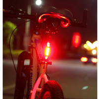 Portable USB Rechargeable Bike Bicycle Tail Rear Safety car ...