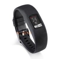 Silikon Garmin İzle Bilek Bandı Akıllı Bilezik Kayışı İçin Garmin VivoFit 4 Yedek saat kayışı için Garmin VivoFit4