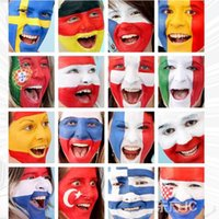 2018 Russia World Cup Face Color Stick Waterproof Football B...