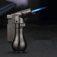 Mini pistolet pulvérisateur Compact Butane Jet Briquet Torche Turbo Briquet 1300 C Flated Briquet Jet Métal Coupe-Vent SANS GAZ