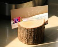Ağaç güdük zanaat yer kart tutucu Rustik tarzı koltuk klasörü fotoğraf klip Düğün doğal ahşap süslemeleri