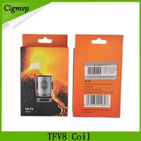 Hot vendas TFV8 bobina de cabeça V8-T8 V8-T6 V8-Q4 bobinas de substituição Fit tfv8 Nuvem Besta Tanque DHL