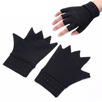 Magnetic Therapy Fingerless Gloves Arthritis Pain Relief Hea...