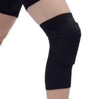 Honeycomb Спорт Безопасность Волейбол Баскетбол Футбол Короткие Колено Pad Ударопрочный Сжатия Носки Колено Обертывания Brace Защиты Один Пакет
