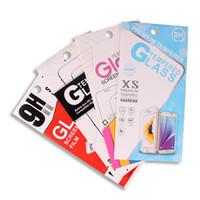 Couleur emballage cadeau boîte au détail papier paquet pour téléphone cellulaire protecteurs d'écran en verre trempé film iphone samsung livraison gratuite