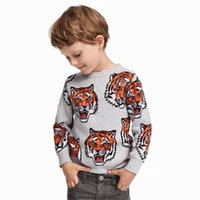 2018 Autumn Boys clothes sweatshirt Tiger Terry Casual Tops ...