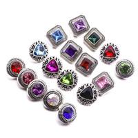 Нуса кусок Оснастки кнопки ювелирные изделия горный хрусталь 12 мм Оснастки кнопки для оснастки кнопки ожерелье браслет кольцо ювелирные изделия