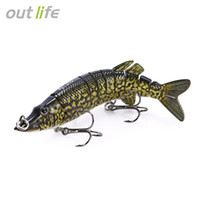 Outlife 9 segment Swimbait Crankbait Çok eklemli Pike Muskie Balıkçılık Cazibesi Tiz Kanca ile Yapay Yem Mücadele 12.5 cm 20g