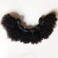 Kinky Curly 6pcs saç Sıcak Hint Remy saç örgüleri satan atkı 6-12inch Seksi Kısa Stil Avrupa Brezilyalı Virgin İnsan Saç uzantıları