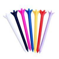 Zero Friction 5 Prong 70mm Tees de golf en plastique Multi couleur Tees de golf en plastique Pic de golf Accessoires pic