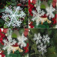 Lovely 10set 30pcs White Snowflake Ornaments Christmas Tree ...