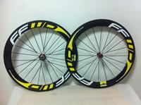 FFwD Road Yellow 60mm FFWD carbon fiber wheel carbon fiber wheelset BOB road clincher road bike wheels