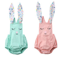 Summer baby girls rabbit onesies romper jumpsuit outfit kid ...