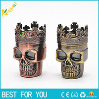 2 strati Punk Ghost Head Skull style Metallo Tabacco Grinder Herbal Herb Mano Muller Smokers Grinders Smoking Accessori Per Regalo